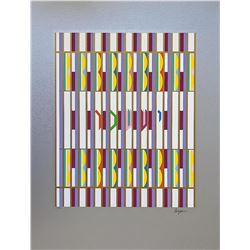 """YAAKOV AGAM Serigraph, """"Issachar"""" Of The 12 Tribes Of Israel"""