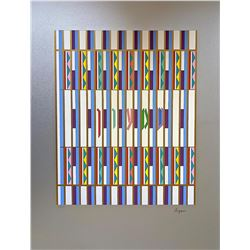 """YAAKOV AGAM Serigraph, """"Shimeon"""" Of The 12 Tribes Of Israel"""