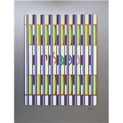"""YAAKOV AGAM Serigraph, """"Neftalie"""" Of The 12 Tribes Of Israel"""