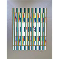 """YAAKOV AGAM Serigraph, """"Levi"""" Of The 12 Tribes Of Israel"""