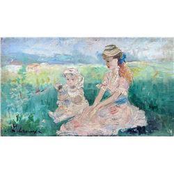 LEROUX Early Oil Like Renoir, Master Impressionism