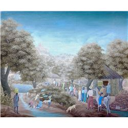 JONAS PROPHIL (1957 -) Fine Haitian Art, Listed