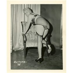 Vintage Very Rare Pin Up Gelatin Photograph Woman 1950s
