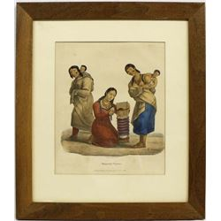 Chippewa Squaws Lithograph by James Otto Lewis