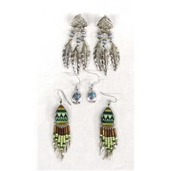3 Pairs of Southwestern Themed Earrings
