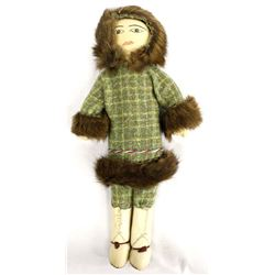 Alaskan Aleutian Islands Cloth & Leather Doll