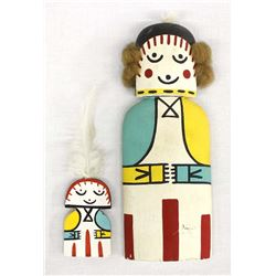 2 Hopi Cradle Board Kachina Dolls