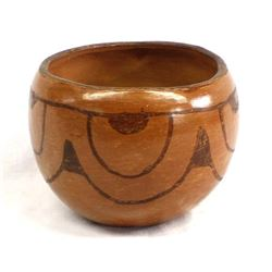 Historic Maricopa Micaceous Clay Pottery Bowl