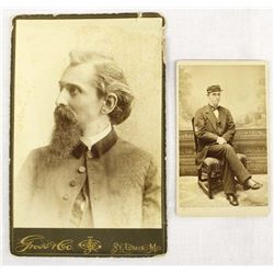 2 Antique Civil War Cabinet Cards