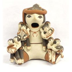 Jemez Pottery Storyteller by Judy Toya
