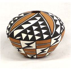 Acoma Pottery Seed Jar by N. Wilson
