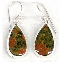 Sterling Silver Unikite Teardrop Earrings