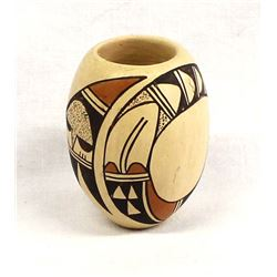 Historic Hopi Pottery Cylindrical Jar by SM