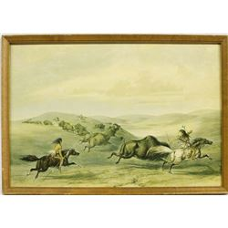 Framed George Catlin Decoupaged Print
