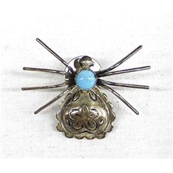 Navajo Sterling Turquoise Push Pin
