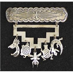 Teme' Navajo Nation Sterling Silver Charm Pin