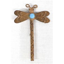 Navajo Copper and Turquoise Dragonfly Pin