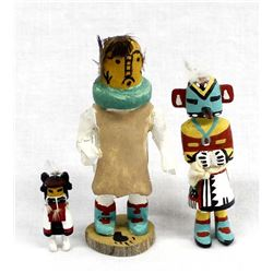 3 Native American Hopi Miniature Kachinas