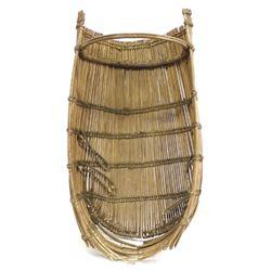 Antique Native American Pomo Cradle Board