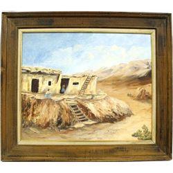 Original Antique Oil Painting by Roxanne Keenan