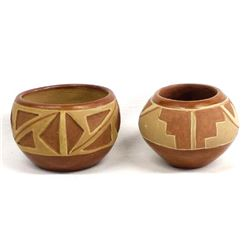 2 Native American San Juan Pottery Bowls