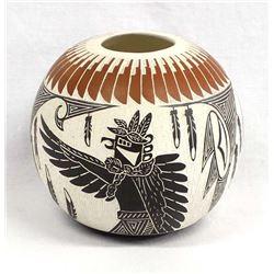 Laguna Pueblo Ceramic Pottery Jar, Lucario