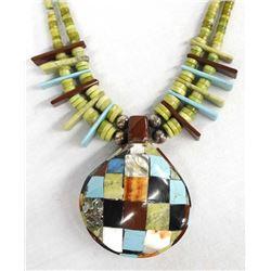 Santo Domingo Reversible Shell Pendant Necklace