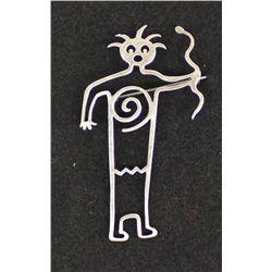 1995 Navajo Sterling Silver Petroglyph Pin
