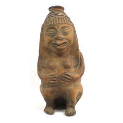 Pre Columbian Pottery Female with Child Replica