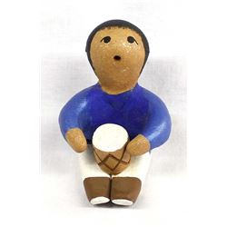 Taos Micaceous Clay Pottery Storyteller, Mirabel