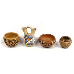 4 Pieces of Historic Native American Pottery