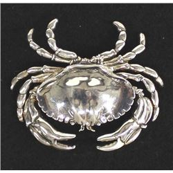 Sterling Silver Crab Pin Pendant