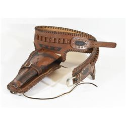 Tooled Leather Holster Size 32 - 34