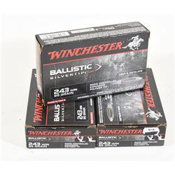 60 Rounds Winchester 243 95 Grain Ammo