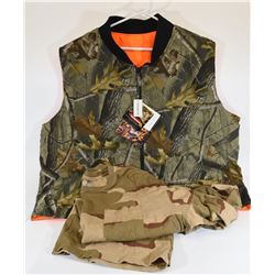 Reversible Camo Vest and Camo Shirt