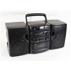 Sanyo CD/Cassette Combo Model MCDS670 Radio