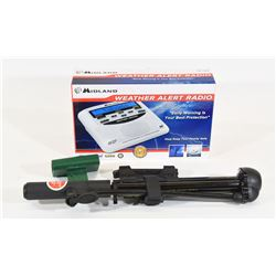 Weather Alert Radio and Tire Pump