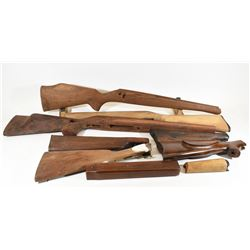 Box Lot Misc Wooden Gun Stocks