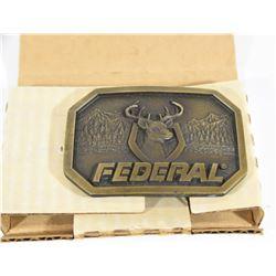 Federal Ammunition 1980s Deer Cast Belt Buckle