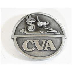C.V.A. Pewter Belt Buckle