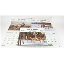 Three Remington Calendars