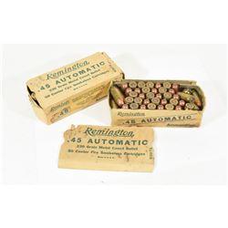 100 Rounds Remington Factory 45 A.C.P.  FMJ Ammo