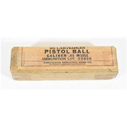 Winchester WWI Gov't Issue 45ACP Ammo
