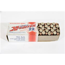 50 Rounds Winchester Expediter 22 Cal. LR HP Ammo