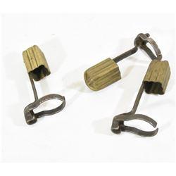 3 Mauser Brass Muzzle Caps