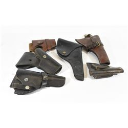 Six Assorted Leather Holsters
