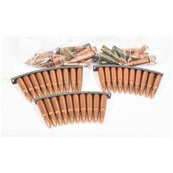 56 Rounds 7.62x39 FMJ Ammunition & Stripper Clips