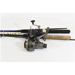 South Bend and Bell Fishing Rods with Reels