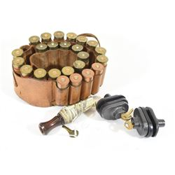 12ga Ammo belt, Trigger Locks, and Duck Call