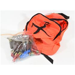 Blaze Orange Backpack with 12ga Ammo and Ammo Belt